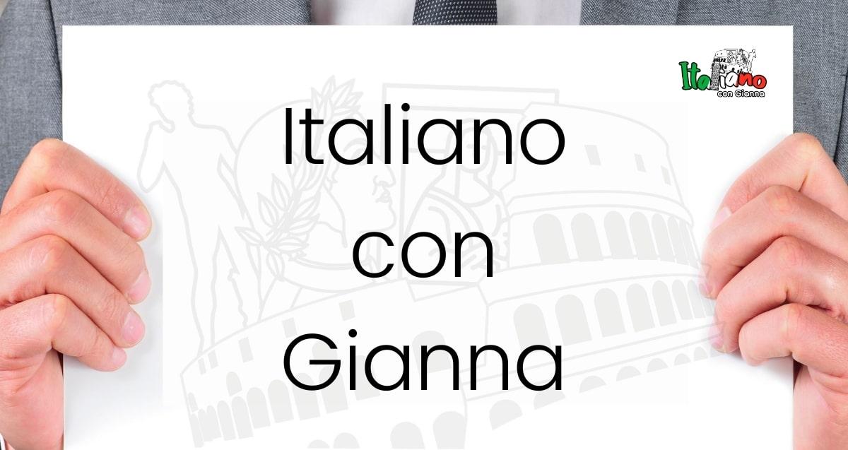 Io Parlo Italiano con Gianna