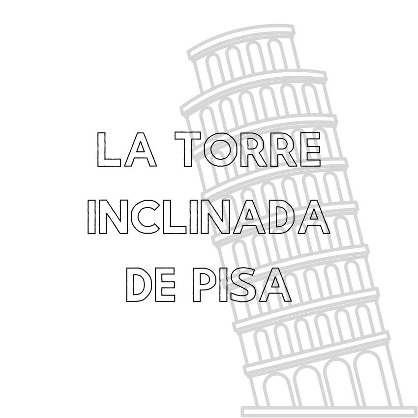 La torre inclinada de Pisa - Italiano con Gianna